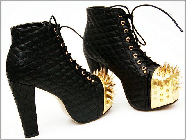 Apair Stiefelette, schwarzgold