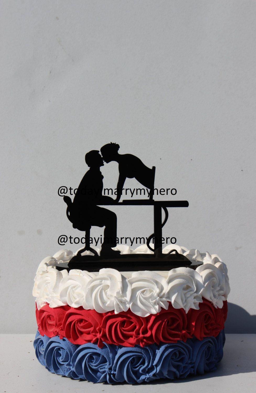 Internet Computer Wife Matchmaker Geek Wedding Cake Topper Wifi