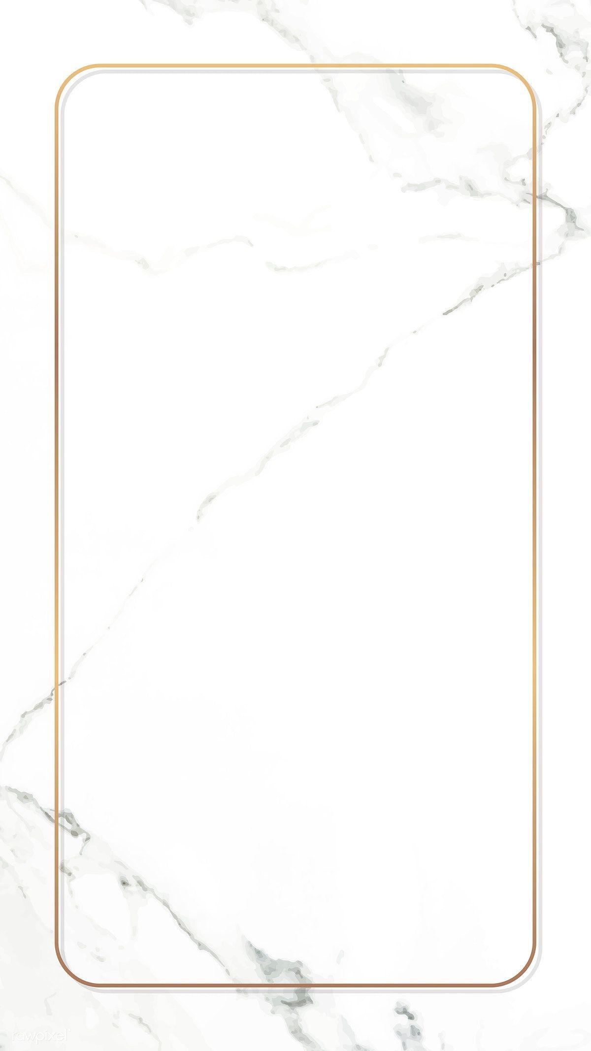 Descargar Prima De Vector De Marco De Oro Del Rectangulo De Marmol Blanco Fondo De Pantalla Del Telefono Movi In 2020 Gold Frame Gold Wallpaper Background White Marble
