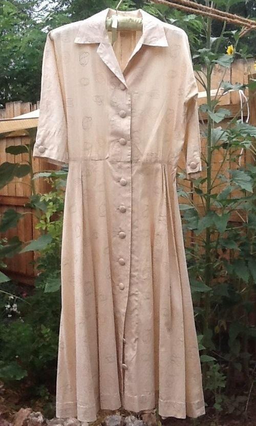 boris lurie fabric in a dress