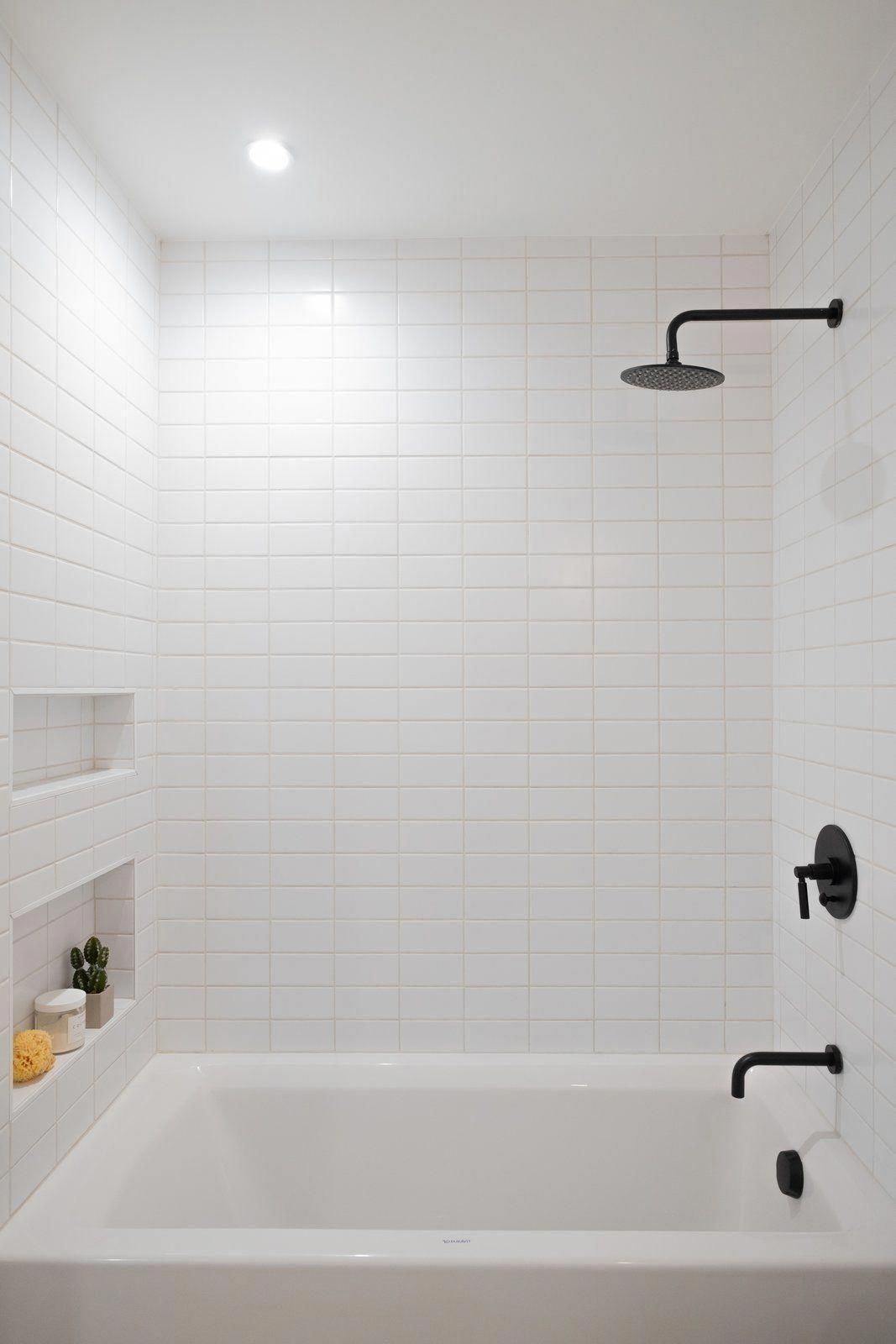 Bath Room Recessed Lighting Soaking Tub Full Shower Subway Tile Wall And Ceiling Lighting Each Bathr In 2020 Shower Remodel White Subway Tile Bathroom Shower Tile