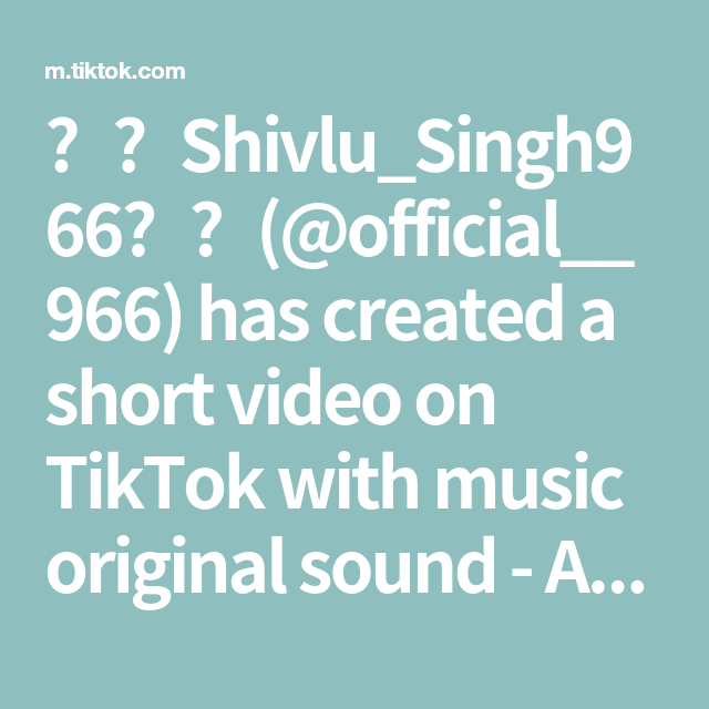 Shivlu Singh966 Official 966 Has Created A Short Video On Tiktok With Music Original Sound Aish Make Crafts For Kids The Creator Professional Art