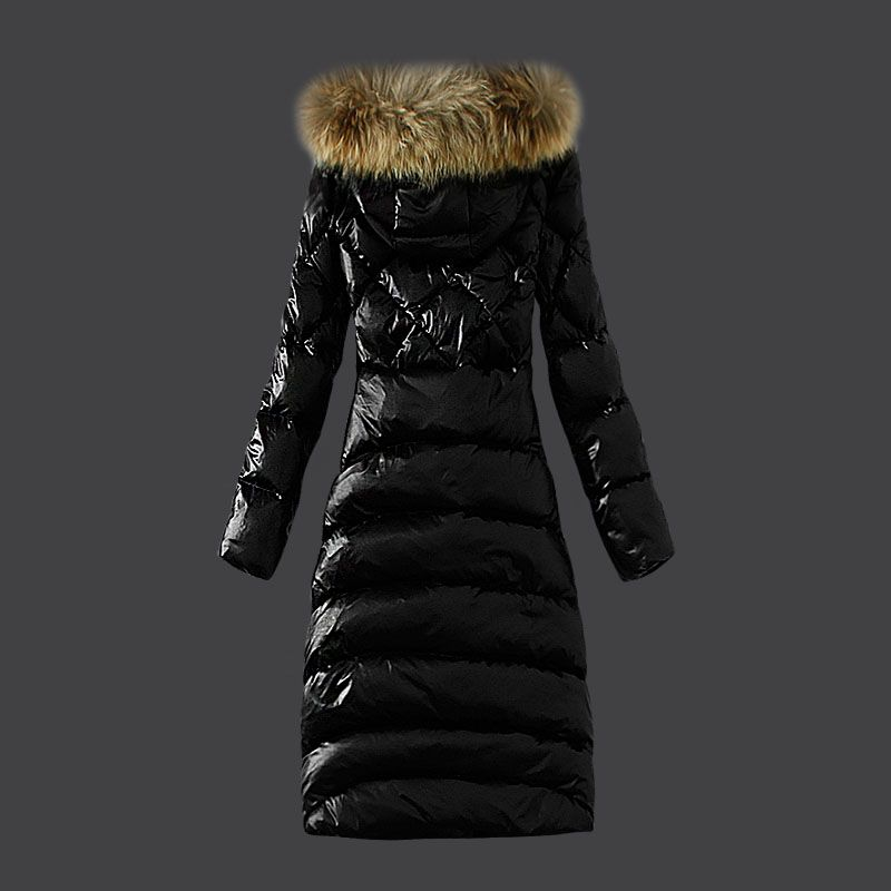 Real Moncler Down Coat Featured Womens Slim Windproof Black
