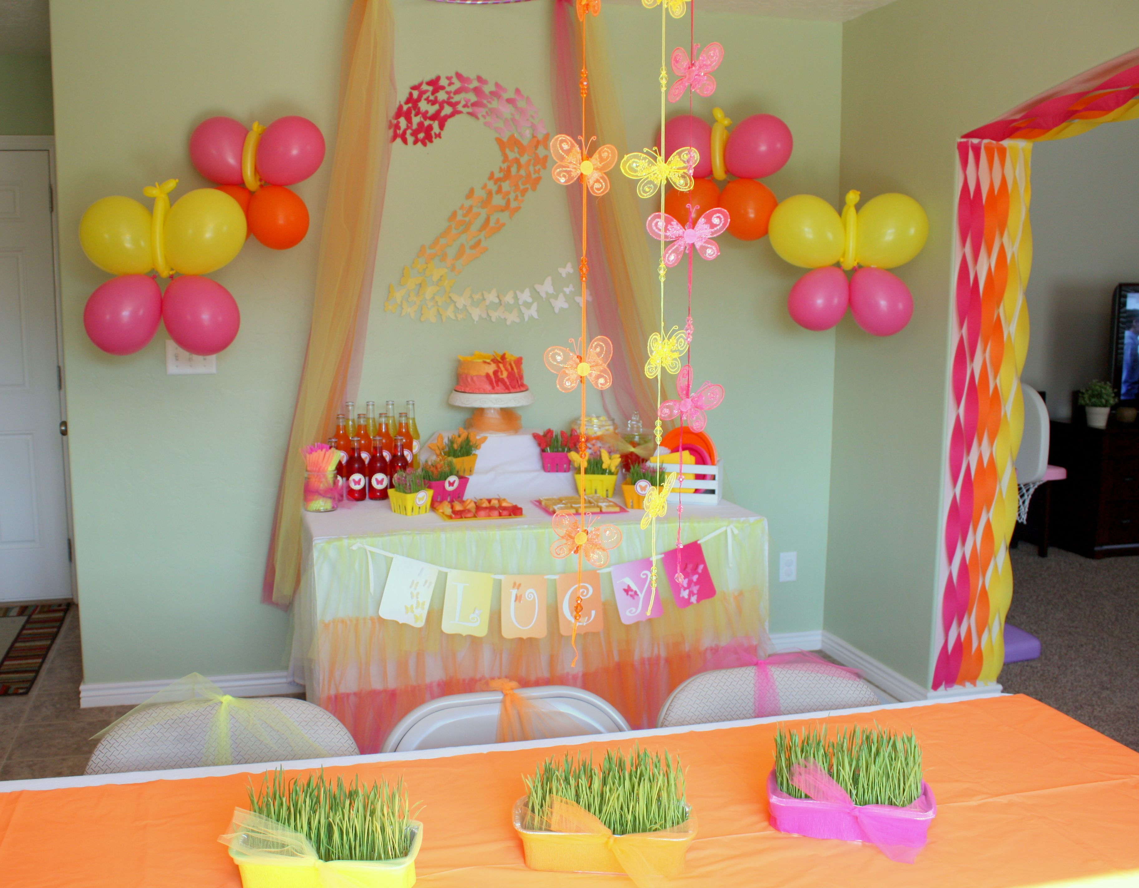 Butterfly Themed Birthday Party Decorations Birthday Party At