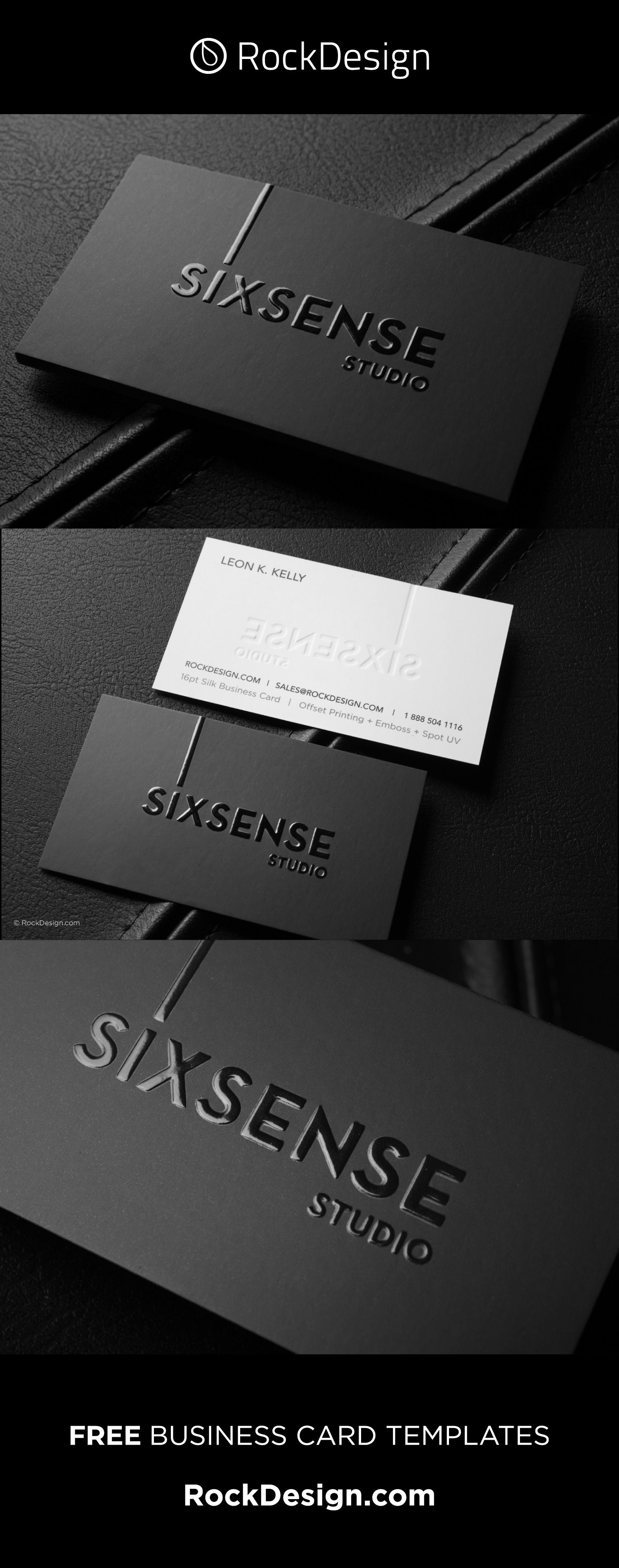 Modern Black And White Silk Business Card With Emboss And Spot Uv Sixsense Graphic Design Business Card Business Card Design Creative Silk Business Cards