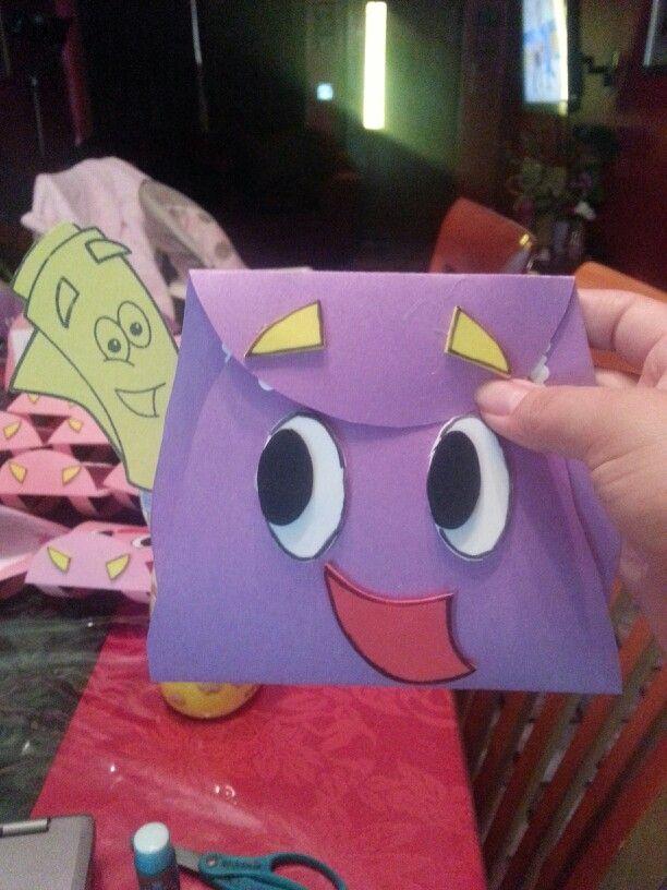 Dora backpack inviatation