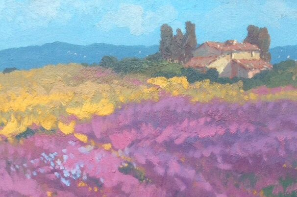 Gift for her, Lavender, Flower Landscape, Original landscape, Abstract Landscape, Free Shipping, Painting original, Painting oil by AgostinoVeroni on Etsy https://www.etsy.com/listing/227250570/gift-for-her-lavender-flower-landscape