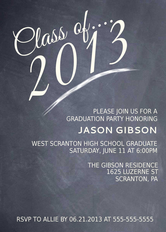 Printable graduation party invitation graduation announcement high school graduation party menu printable chalkboard graduation partyannouncement invitation this filmwisefo Images