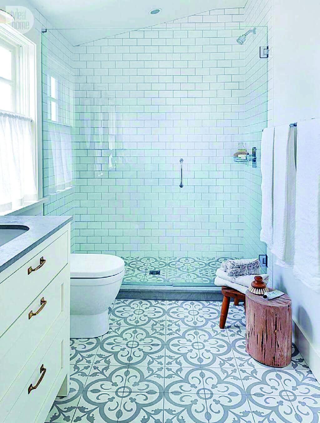 Restroom Ceramic Tile Design Suggestions Small Bathroom Bathrooms Remodel Bathroom Floor Tiles