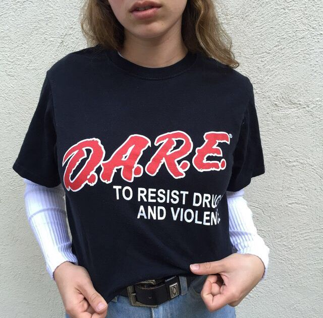 i have a D.A.R.E shirt . ❤️ pinterest// kjvouge✨