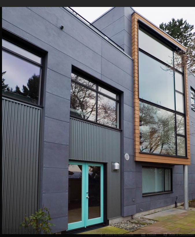 Exterior House Designs Exterior Modern With Concrete Patio: Facades / Materials & Colors
