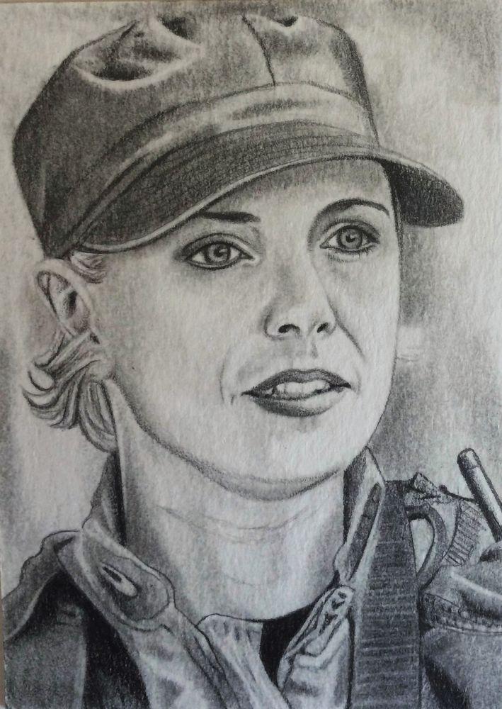 Stargate SG-1 Samantha Carter Amanda Tapping ACEO Sketch Card Original Artwork | eBay
