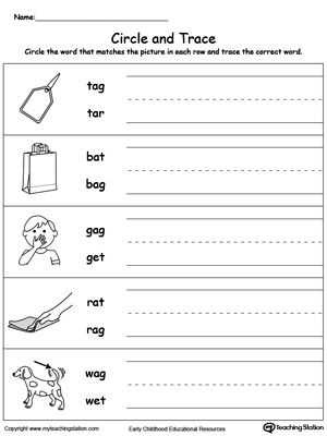 AG Word Family Phonics and Writing Practice | MyTeachingStation.com