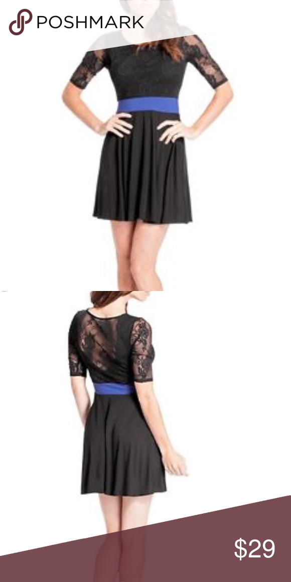 Lace back dress guess