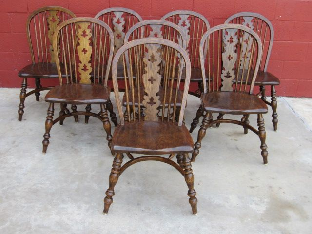 English Windsor Chairs 8 Dining Room Chairs | Decor~WindSoR ChairS ...
