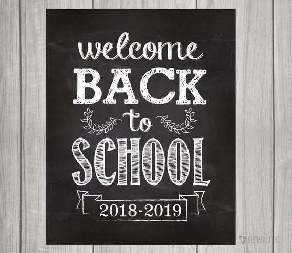Welcome Back to School Sign - 11x14 printable sign - instant digital