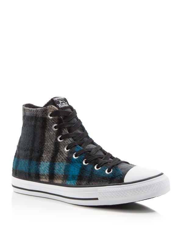 f31fa641bb8e Converse Chuck Taylor All Star Woolrich Plaid High Top Sneakers ...