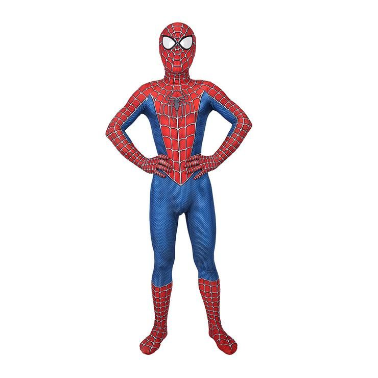 Raimi Spiderman Cosplay Costume Avengers Makeup Jumpsuit Kids Boys Men Superhero