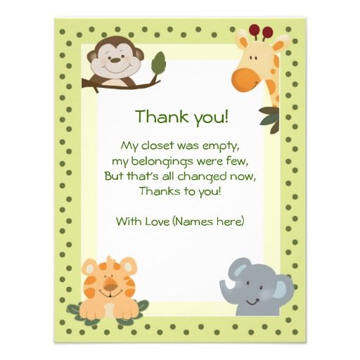 Thank You Notes For Baby Shower gender neutral ba shower thank you