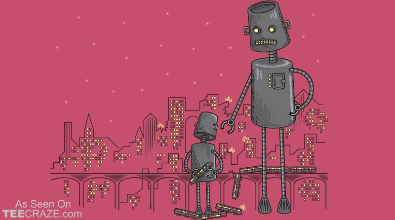 Bad Robot T-Shirt Designed by heavyhand