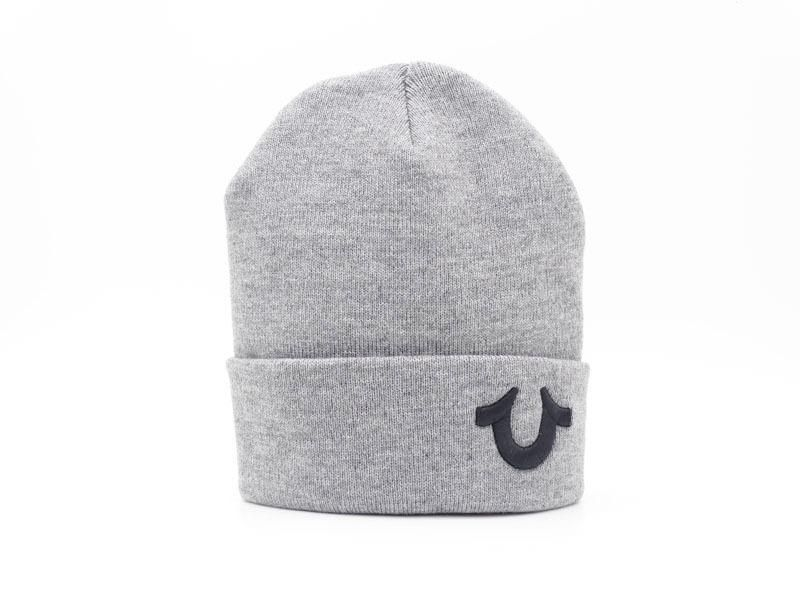 ef0d833c1d Men s   Women s True Religion Cashmere Blend Watchcap The U Logo Embroidery  Cuff Knit Beanie Hat - Grey   Black