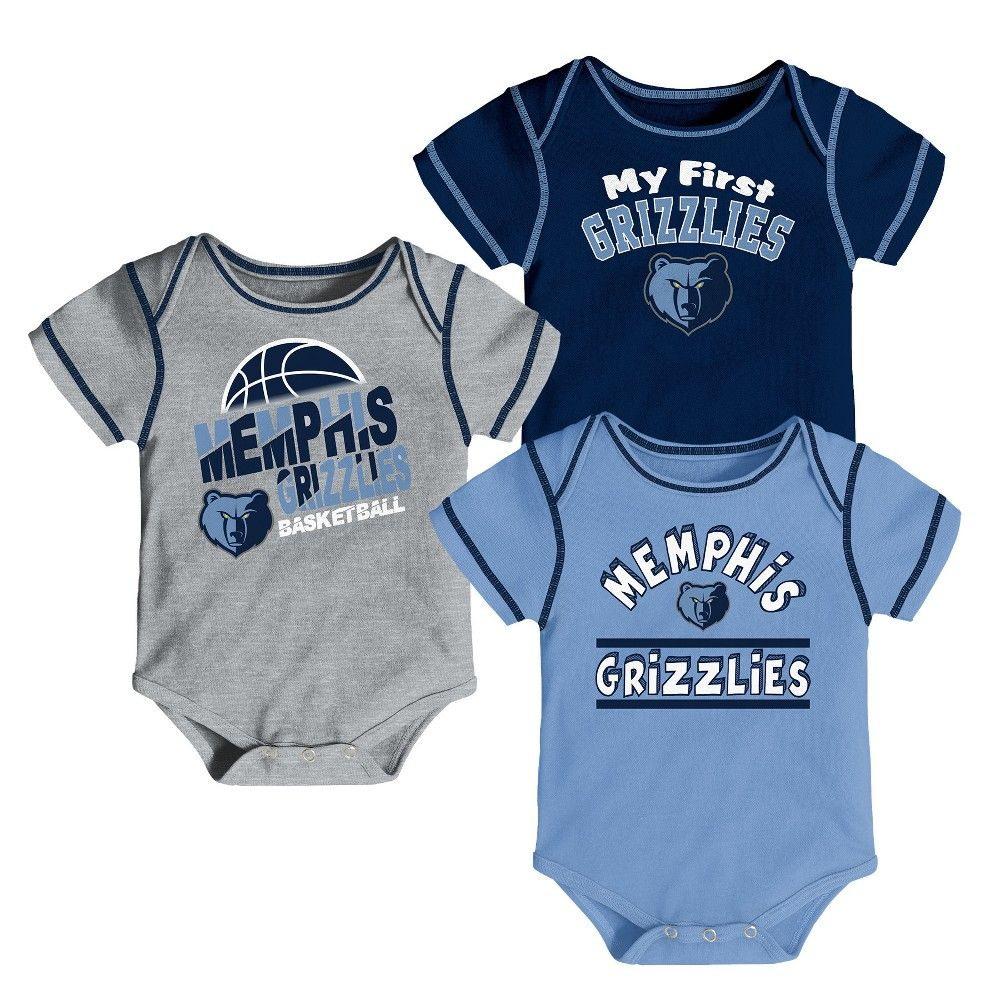 cf98428b5 Cheer on the Memphis Grizzlies in style with this official NBA Boys 3pk  Bodysuits. This sports apparel set makes your allegiance unmistakable using  team ...