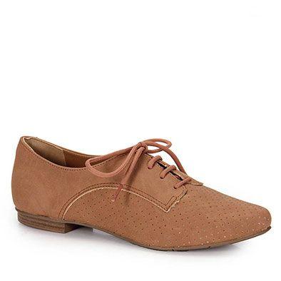 8e494826d9 Sapato Oxford Feminino Via Marte - Caramelo