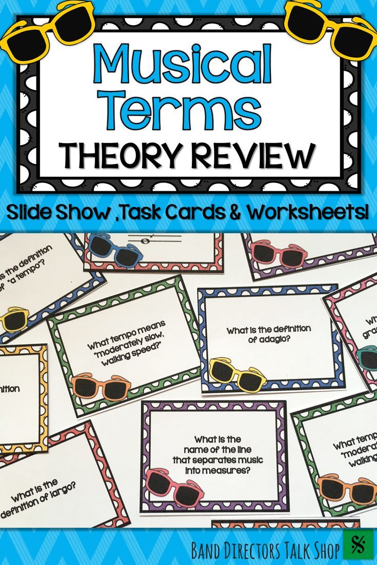 End Of Year Music Activities Music Terms Game Music Worksheets
