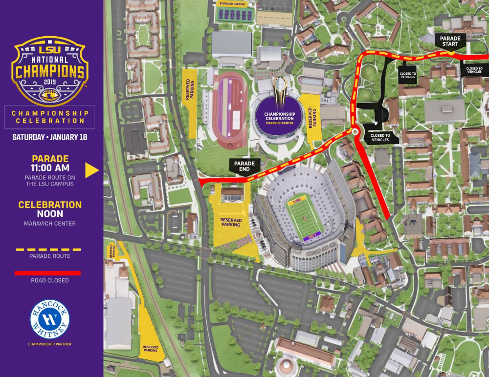 Watch Live Lsu Tigers Celebrate National Championship Win With Parade In 2020 National Championship Lsu Lsu Tigers