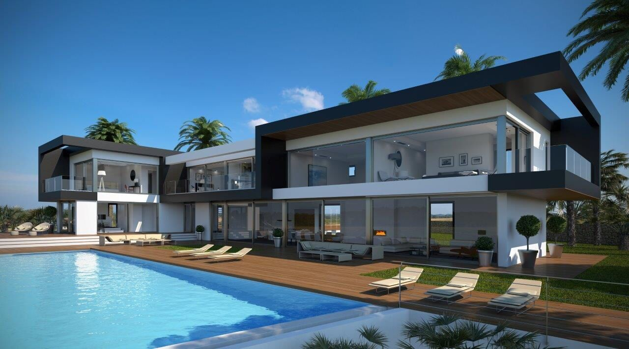 Villa de lujo   Arquitectura   Maison moderne, Constructeur maison ...