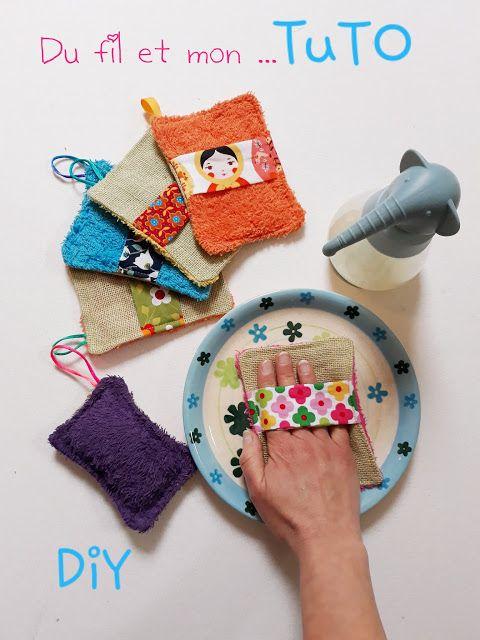 Eponge ou gant lavable - Pop Couture