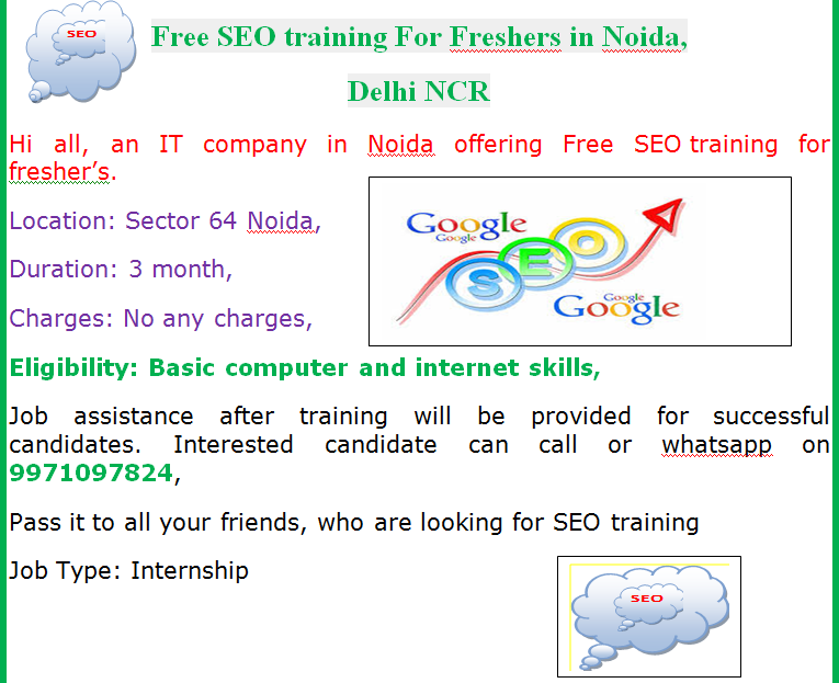 Hi all, There is an SEO training going to be started for