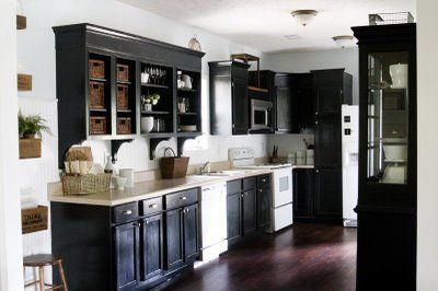 Guest Post By Mr Lettered Cottage Black Kitchen Cabinets White