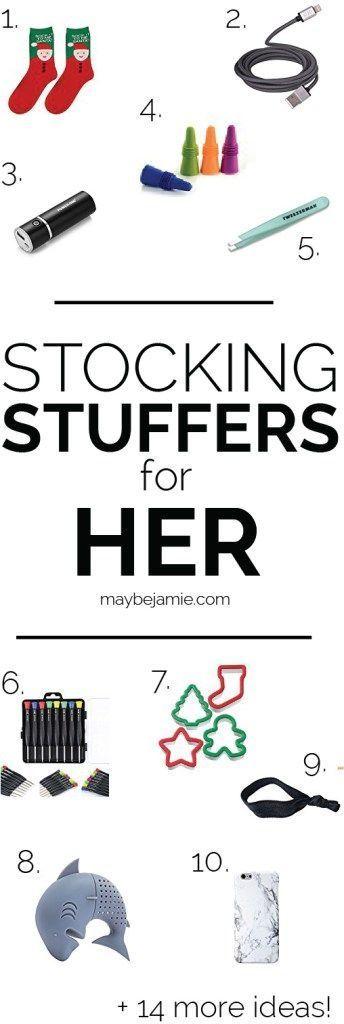 Twenty-four awesome stocking stuffer ideas for the girls in your life! Whether i #stockingstuffersforadults