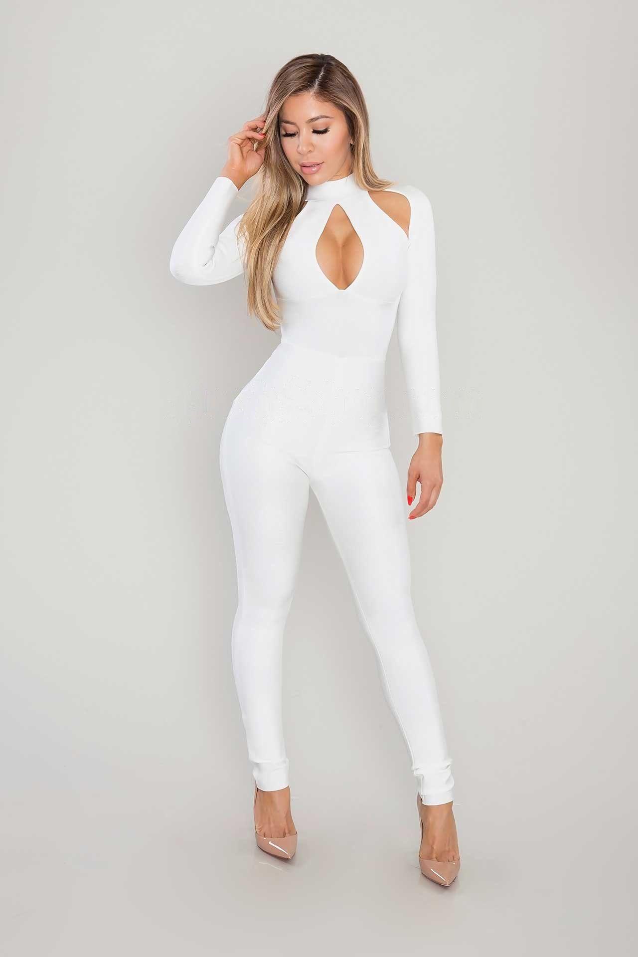 11a16a4ff7b Kennedi Bandage Jumpsuit - White