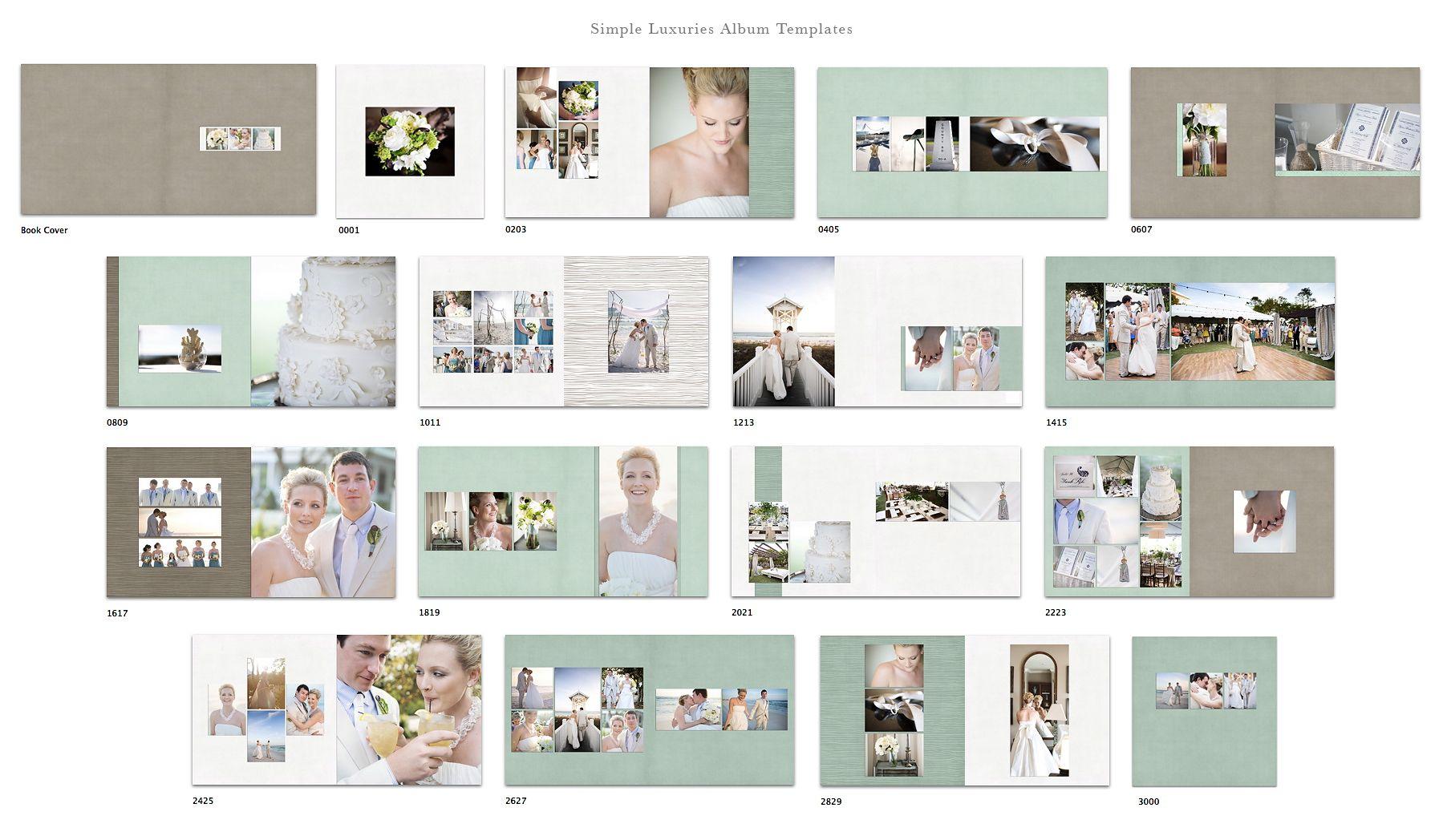 Simple Luxuries Album Templates Wedding Album Layout Photobook Design Wedding Album Design