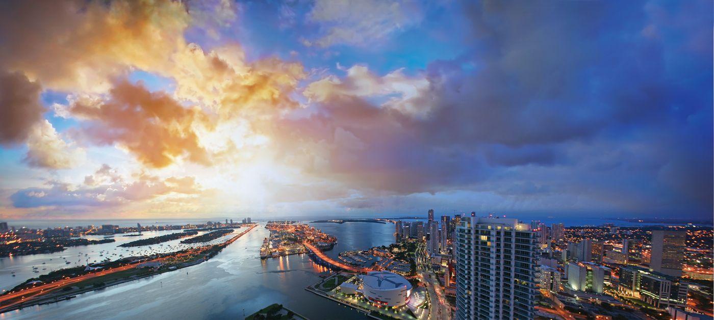 Best Miami Beach Florida Downtown Miami Aerial East Views Jpg 640 x 480