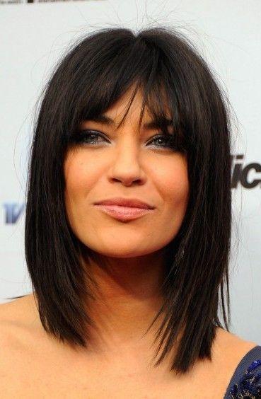 Medium Length Hairstyles With Bangs For Thick Hair Idee Per Capelli Capelli Scuri Tagli Di Capelli
