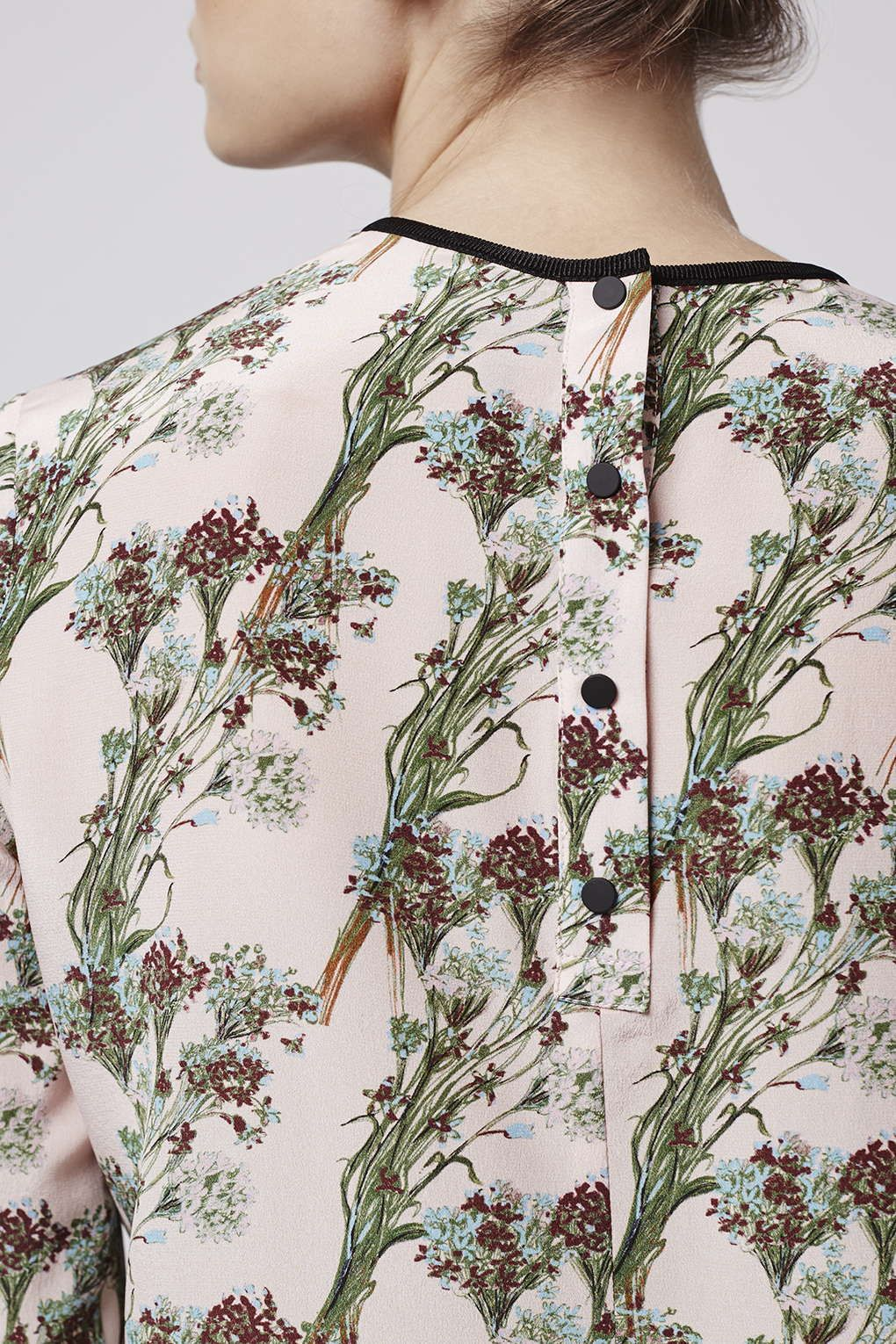 This Pure Silk Blouse Comes With A Delicate All Over Print