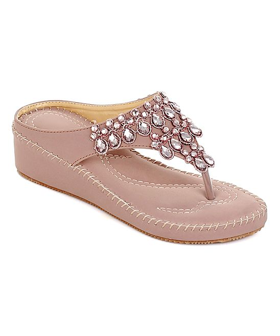 Ladies pink leather sandals