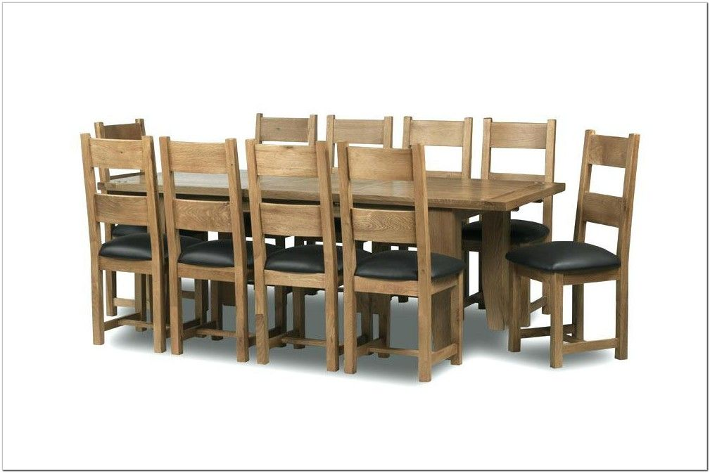 41+ Extending oak dining table and 10 chairs Trend