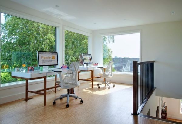 30 shared home office ideas that are functional and beautiful - Modern Home Office For Two