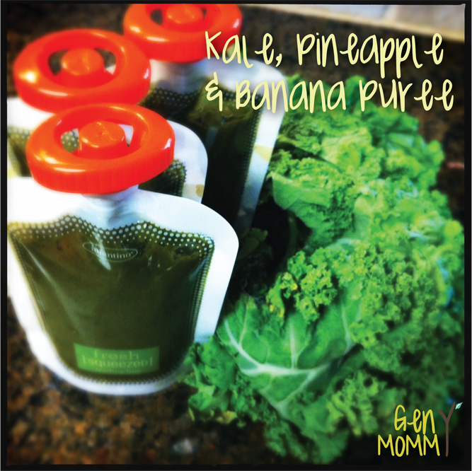 Homemade kale pineapple banana baby food great for introducing recipe kale pineapple banana puree gen y mommy diy baby food forumfinder Images