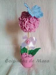Resultado de imagem para vaso de parede com flores de feltro