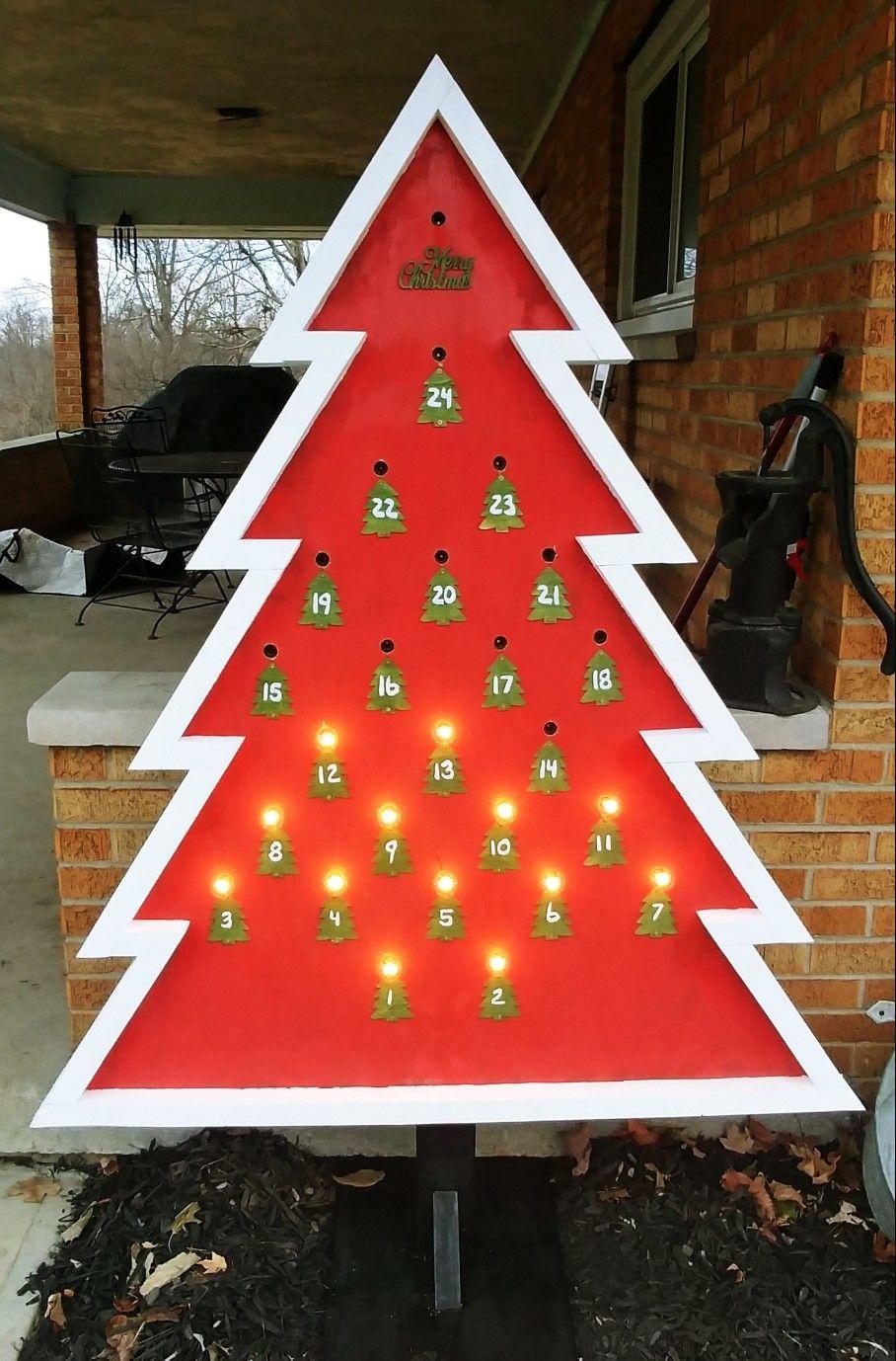 18++ Christmas tree advent calendar ideas