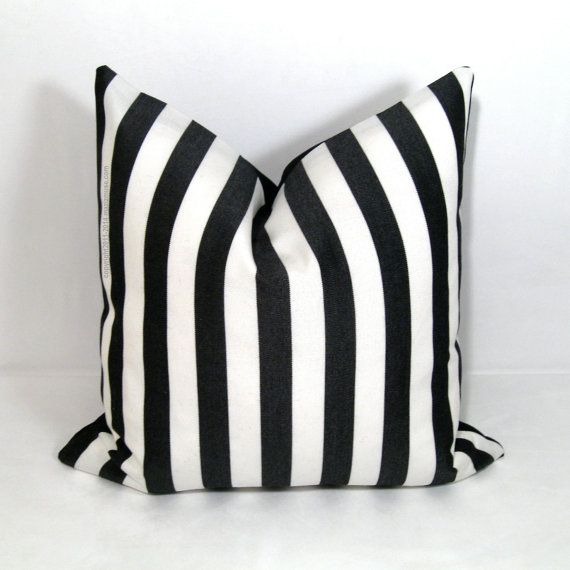 Black White Stripe Pillow Cover Modern Outdoor By Mazizmuse Decor