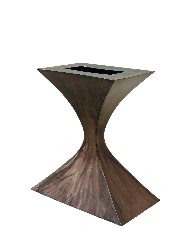 Metal Pedestal Base Side Table Modern Or Industrial Foyer Table Center Table Pedestal Table Base In Custom In 2020 Metal Table Base Foyer Table Small Metal Table