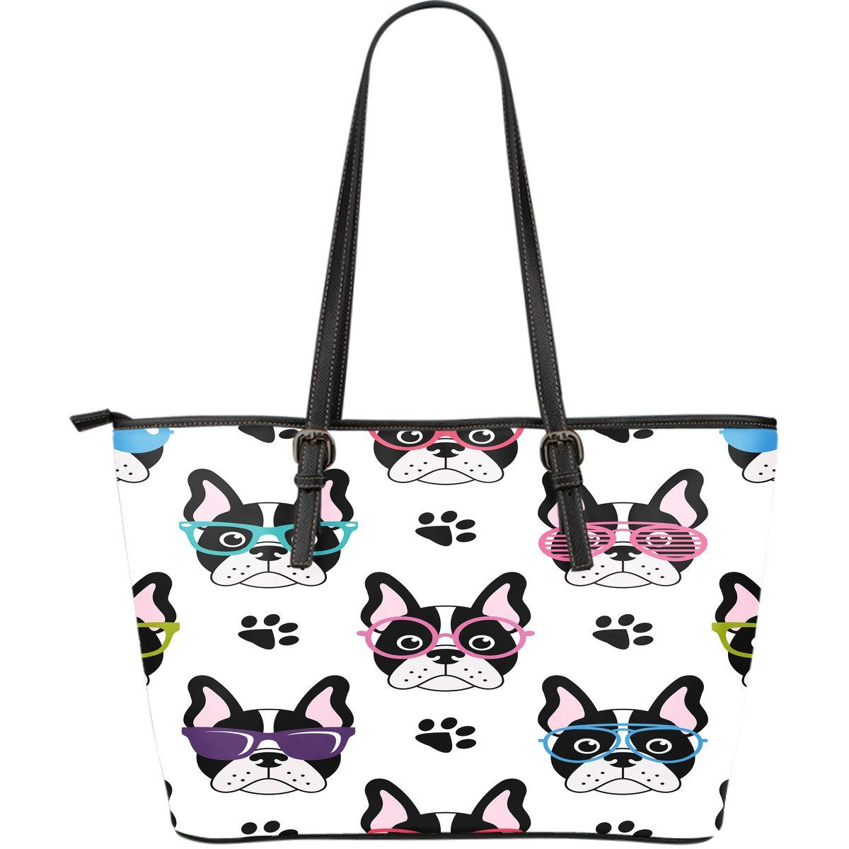 Amazing French Bulldog Leather Tote Bag totebag bag