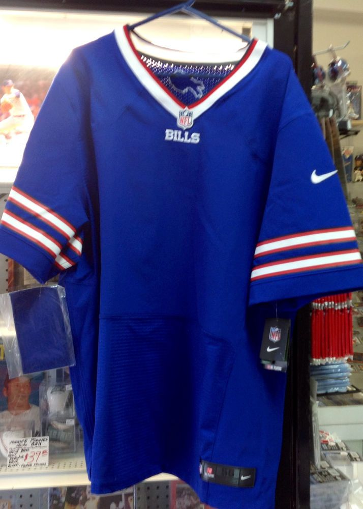11ec2eaf7 NWT Mens Nike On Field BLANK NFL Buffalo Bills Football Home Jersey 56 XXL   Nike  BuffaloBills