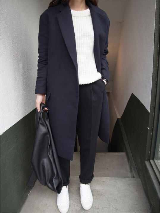 Tailored trousers & trainers